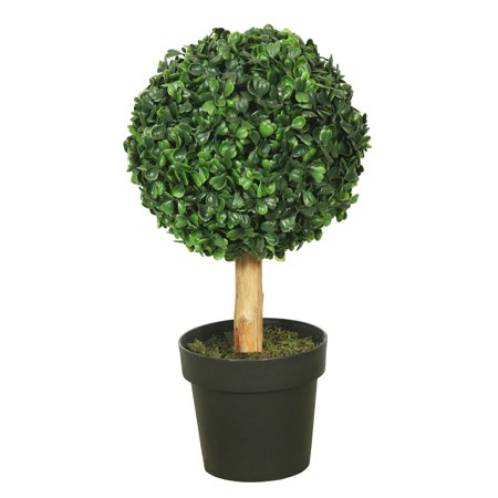 "Vickerman 10"" Boxwood Topiary w/5"" Pot-7"" Ball"