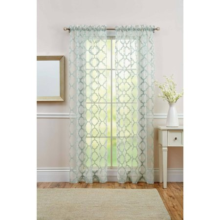 Rayon Curtain - Better Homes and Gardens Sheer Juniper Trellis Curtain Panel, 50x84