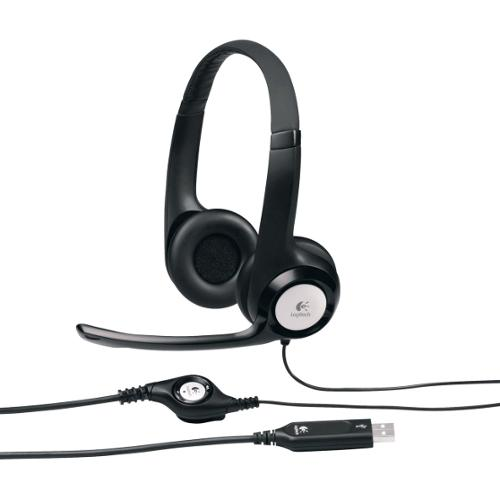 Logitech USB Headset H390 - Stereo - Black, Silver - USB - Wired - 20 Hz - 20 kHz - Over-the-head - Binaural - Circumaur