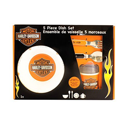 Harley Davidson Melamine Feeding Set  Orange Black