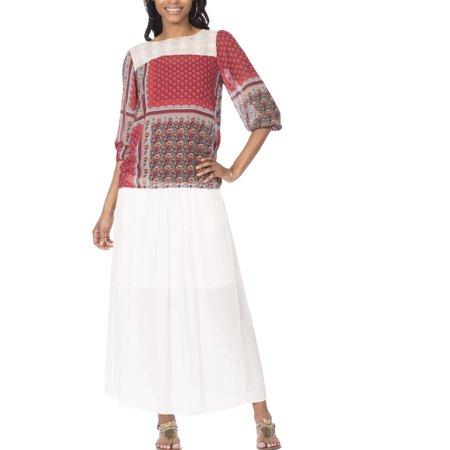 Moda Women's Woven Maxi Skirt
