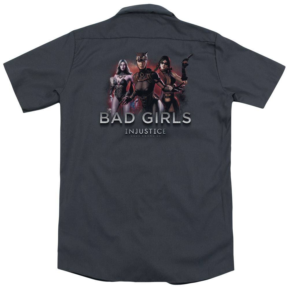 Injustice Gods Among Us Bad Girls (Back Print) Mens Work Shirt