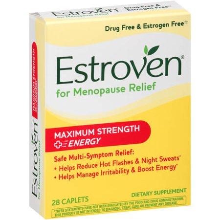 Estroven Maximum Strength   Energy For Menopause Relief Caplets  28 Count