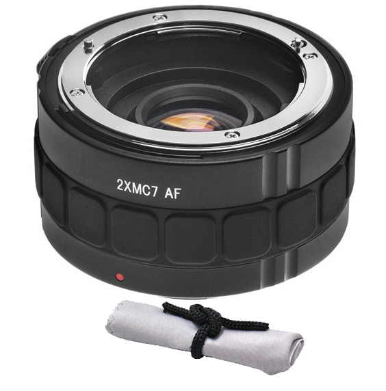 Canon EOS Rebel T7i 2x Teleconverter (7 Elements) + Nw Direct Microfiber Cleaning Cloth.