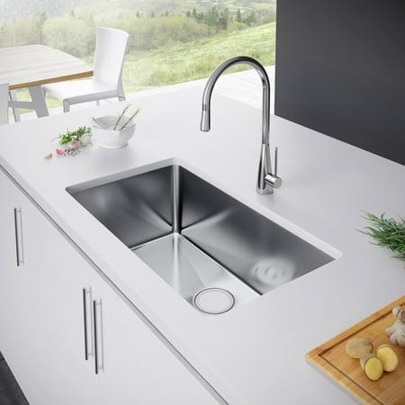 Exclusive Heritage Single Bowl Undermount Round KSH-2918-S Kitchen Sink