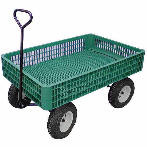 "Millside Industries 03910 G 30"" x 46"" Plastic Mesh Deck Wagon"