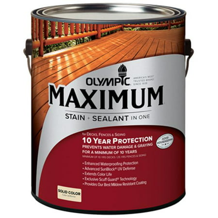 Olympic 79611A-01 Gallon White Base Maximum Deck, Fence & Siding