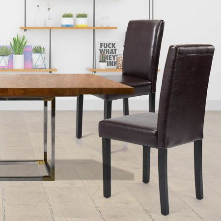 Fine Hommoo 4 Pieces Dining Chair Black Leisure Pu Leather Armless Kitchen Chairs For Indoor Coffee Shop High Back Fabric Elegant Design Accent Chair Set Andrewgaddart Wooden Chair Designs For Living Room Andrewgaddartcom