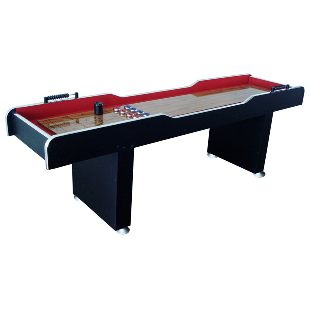 Product Image MD Sports 8u0027 Poly Coated Surface Home Gameroom Shuffleboard  Table With Pucks