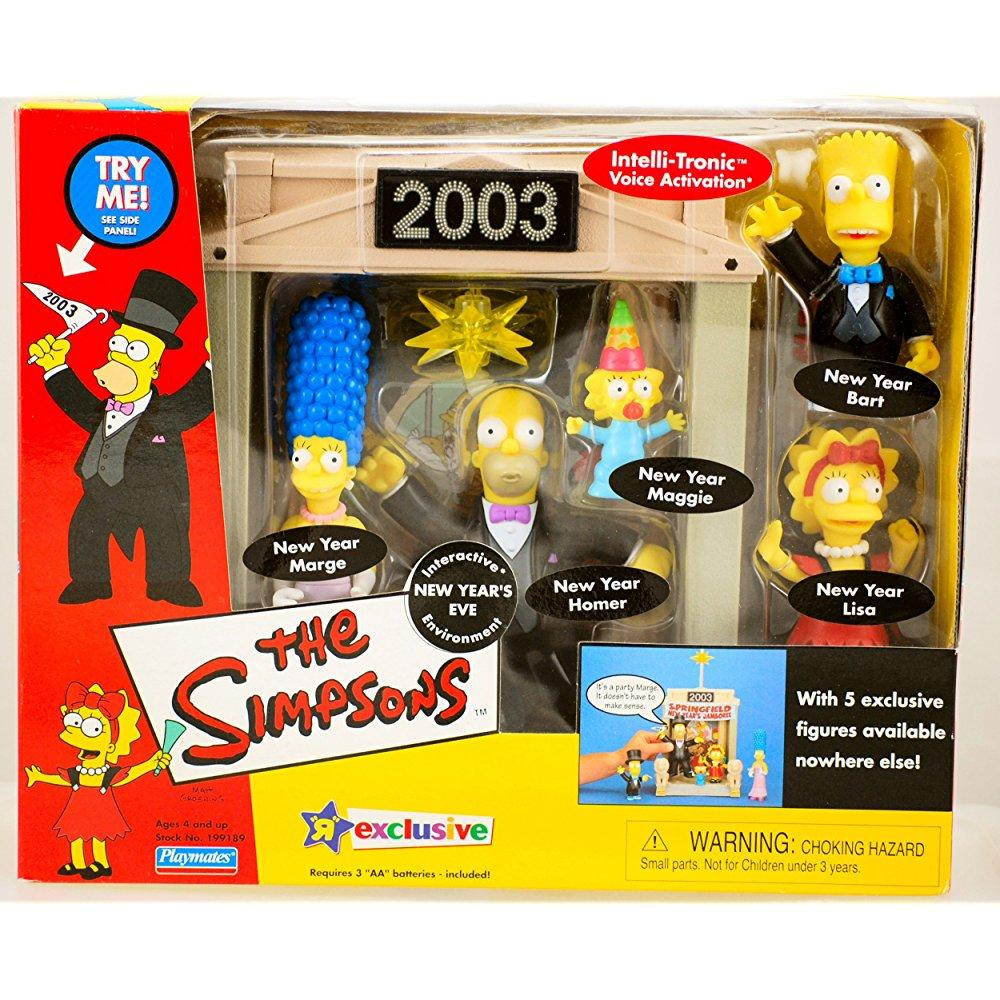 Playmates the simpsons playset 2003 new year's eve