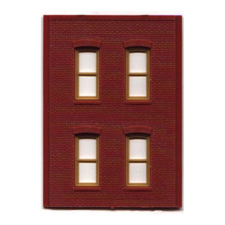 HO DPM 2 Story/4 Rect Window (4) Multi-Colored (Plastic Model Airplane Decals)