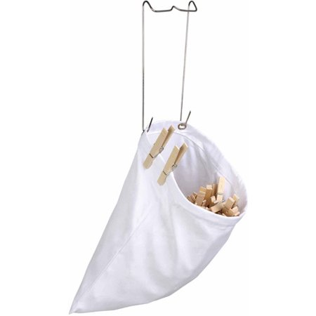 Honey Can Do Clothespin Bag with Metal Hanging Hook, White (Pack of 2) Clothespin Bag Patterns