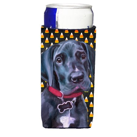 Black Great Dane Puppy Candy Corn Halloween Ultra Beverage Insulators for slim cans LH9551MUK](Halloween Names For Beverages)