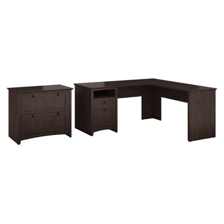 Buena Vista L Shaped Desk with Lateral File Cabinet in Madison Cherry - image 4 de 4