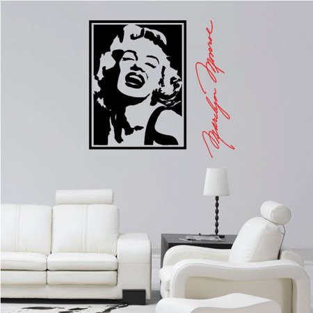 - Marilyn Monroe Signature Wall Decal - Vinyl Decal - Car Decal - Vd2color004 - 36 Inches