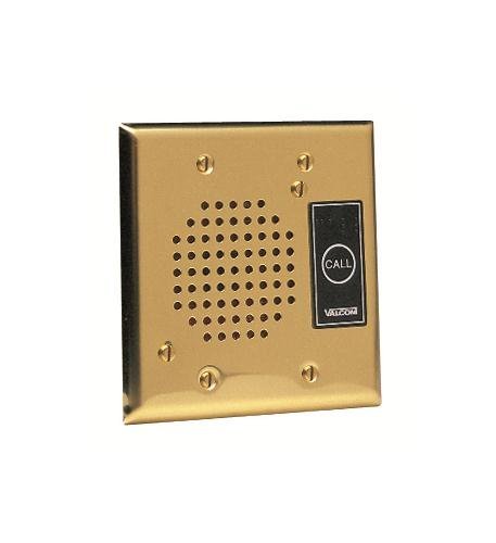 Valcom VC-V-1072B-BRASS Doorplate Speaker Flush W/Led (Brass)