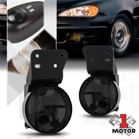 smoke tinted fog light bumper lamps w/switch+harness for 99-05 pontiac  grand am 00 01 02 03 04 - walmart com