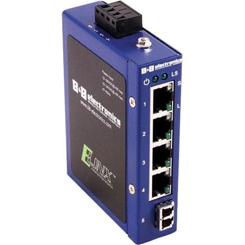 B&B Elinx ESW105 Ethernet Switch - 5 Port - 5 x 10/100Base-TX - Quatech