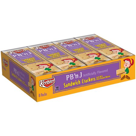 Keebler Pbn J Sandwich Crackers 11 Oz  Tray