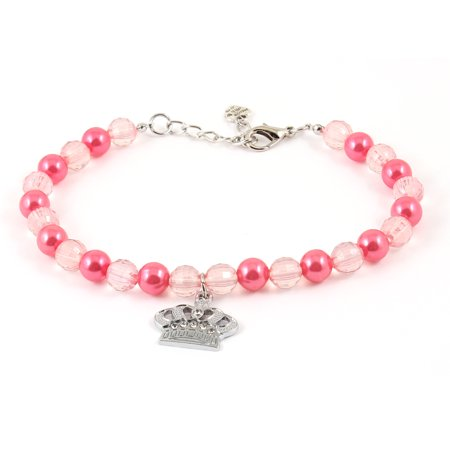 Unique Bargains Lobster Clasp Closure Crown Pendant Pet Dog Poodle Yorkie Collar Necklace Pink (Best Collars For Poodles)