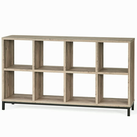 Base Camp Storage - Better Homes and Gardens 8 Cube Storage Organizer with Metal Base, Multiple Finishes