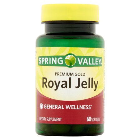 Spring Valley Premium Gold Royal Jelly Softgels  60 Ct