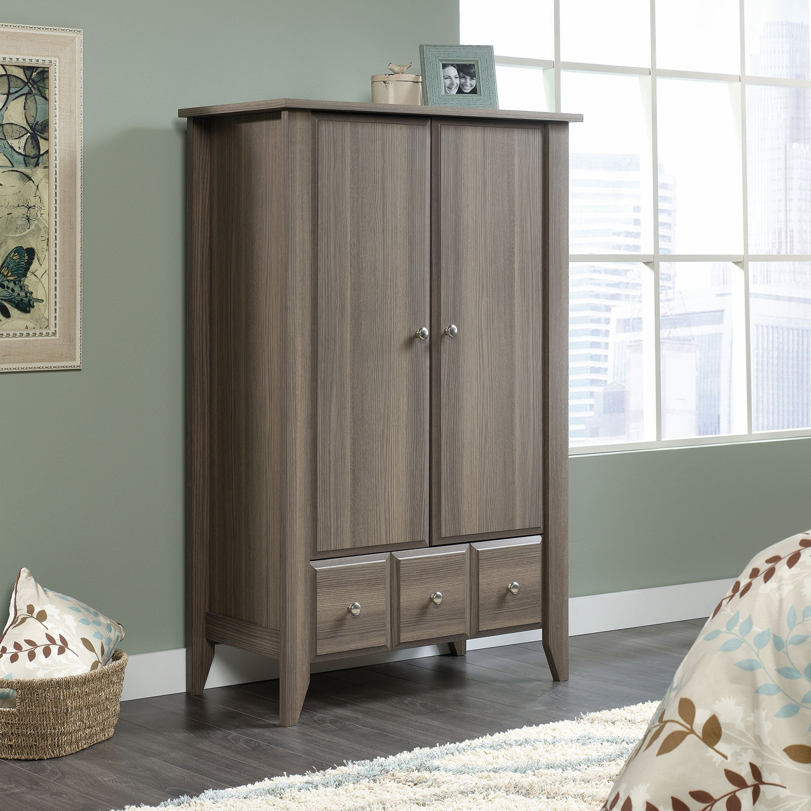 Sauder Shoal Creek Armoire - Diamond Ash