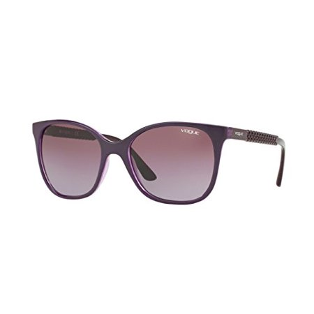 Vogue VO5032S Sunglasses 24098H-54 - Topaz Violet/Violet Transparent Frame, Violet (Vogue Sunglasses Men)