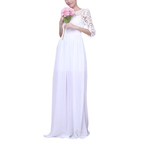 6a07c6d2da0 HIMONE - Women Dresses Long Maxi Party Prom Ball Gowns Fashion Lady Lace  Crochet Evening Cocktail Wedding Bridesmaid Formal Dress - Walmart.com