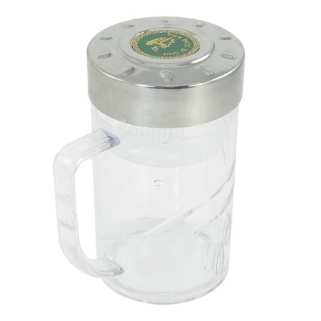 Unique Bargains Protable Camping 400ml Capacity Metal Cap Water Container Clear Plastic Bottle