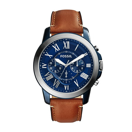 Fossil Men's Grant Brown Leather Chronograph Watch FS5151 ()