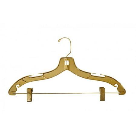 "NAHANCO Plastic Suit Hangers - Heavy Weight - 17"" Gold Finish - 25 pk"