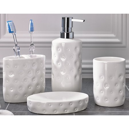 Flato Home Products 4 Piece Esemble Bathroom Accessory Set