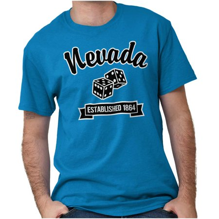 Nevada Gift (Brisco Brands Nevada Airport Souvenir Gift Short Sleeve Adult T-Shirt )
