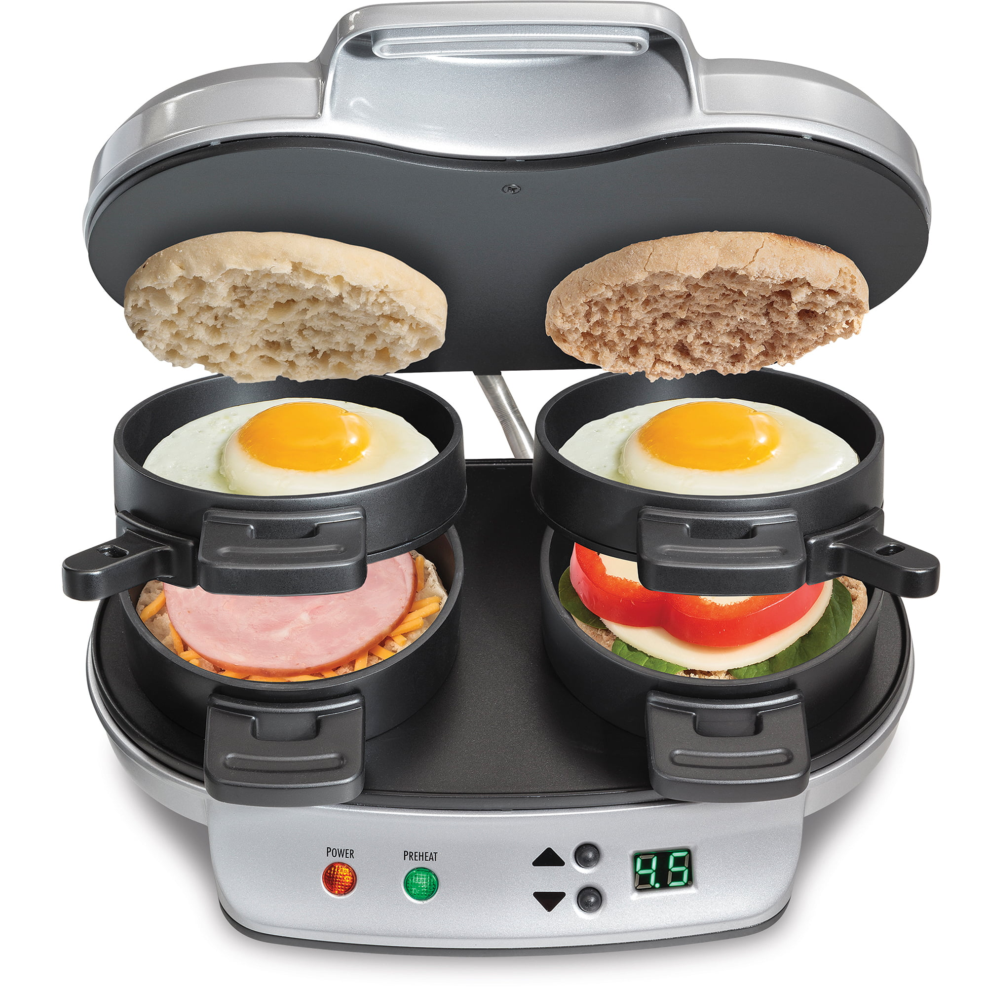 Image Is Loading Breakfast Sandwich Maker Dual Hot Plate Cook Food