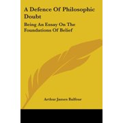 A Defence Of Philosophic Doubt (Paperback)