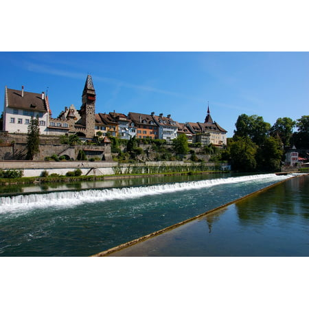 LAMINATED POSTER Bremgarten Bank Switzerland Homes River Water Poster Print 24 x (Best Swiss Private Bank)