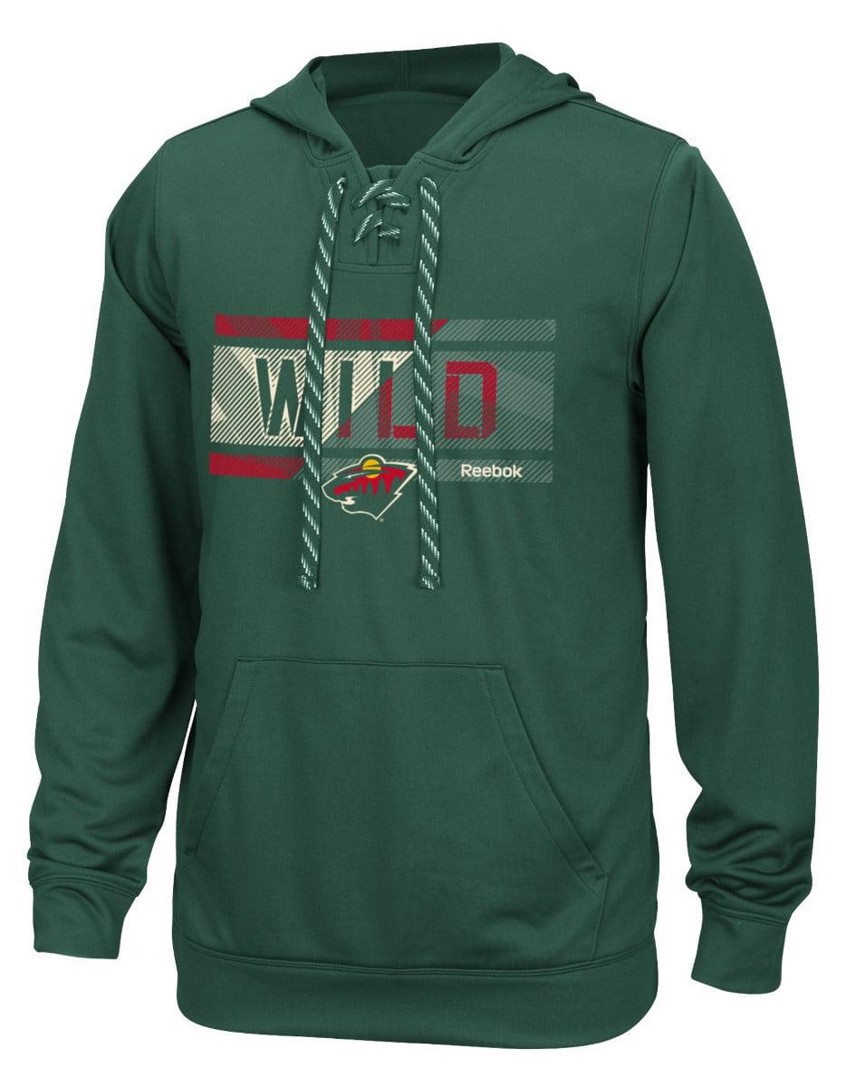 """Minnesota Wild Reebok NHL Men's """"Freeze Stripe"""" Pullover Hooded Sweatshirt by Reebok"""