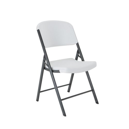 Lifetime 42804 Folding Chair, White Granite, Pack of 4 by