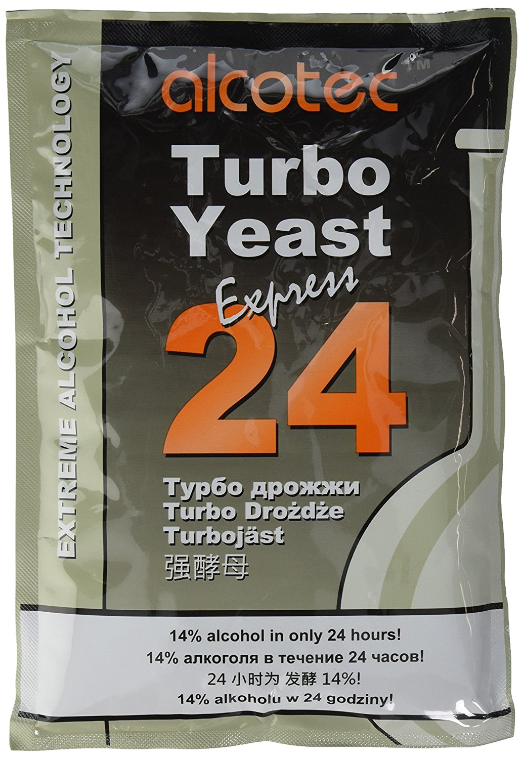 205g 24-hour Turbo Yeast, Gold, Alcotec 24-hour Turbo yeast By Alcotec Ship from US by