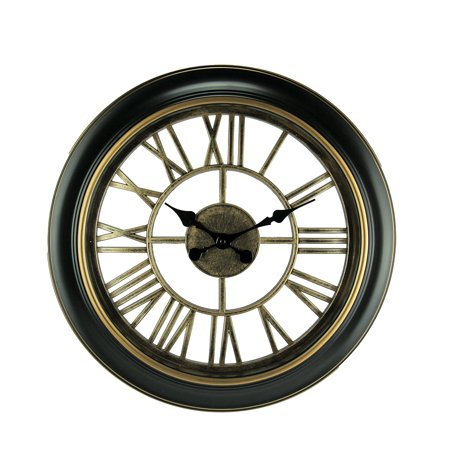 Black and Gold Open Frame Cut Out Design Wall Clock - image 3 of 3