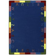 Joy Carpets 1543B-01 Rainbow Alphabet Bold 3 ft.10 in. x 5 ft.4 in. 100 Pct. STAINMASTER Nylon Machine Tufted- Cut Pile Educational Rug