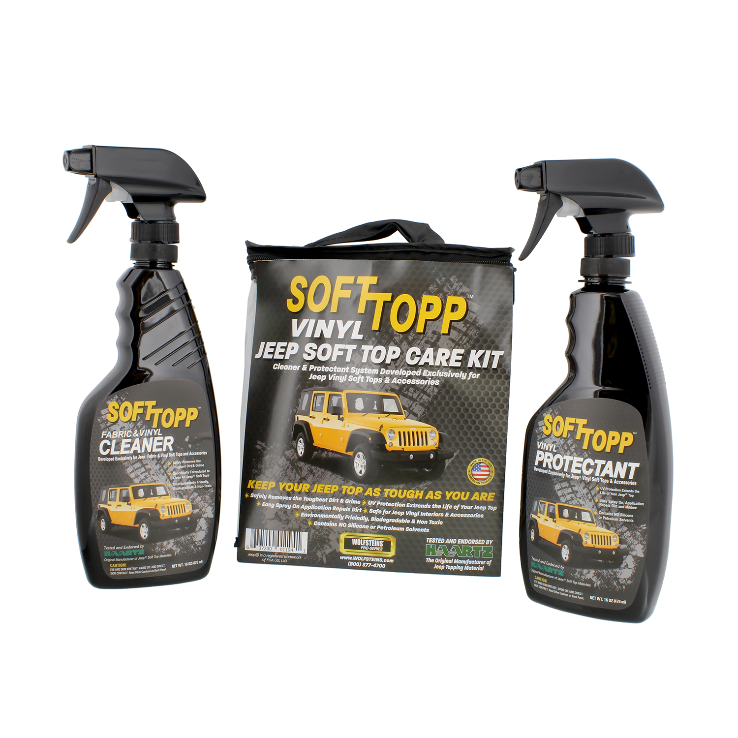 RaggTopp 1194 SoftTop Jeep Top Vinyl Top Cleaner & Protectant Kit - Pack of 2
