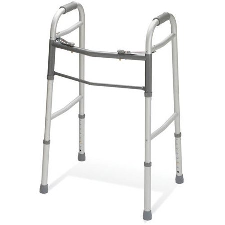 Medline Two-button Folding Walker ()
