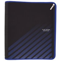 "Five Star Xpanz 2"" Zipper Binder, 380 Sheet Capacity, Blue Lines (29040HW9)"