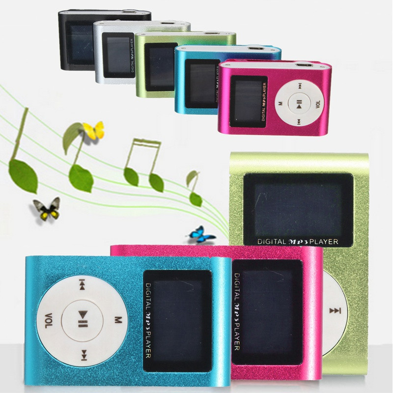 Mini Portable MP3 Music Player USB Clip With TF Card Slot & Digital