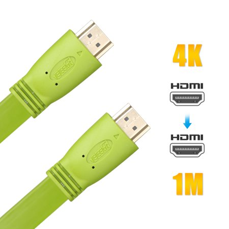EEEkit HDMI to HDMI Cable, 1M /3.3ft, High Speed, Supports 4K, UHD, FHD, 3D, Ethernet, Audio Return Channel for Blu-Ray Player, Apple TV, Xbox One, PS4, Roku, DVD Players, Play Stations, HDTV, (Ps4 Pro Won T Play 4k Blu Ray)