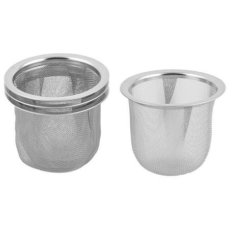 Unique BargainsKitchen Metal Round Tea Leaf Waste Drain Sink Strainer Infuser 60mm Dia (Leaf Strainer)