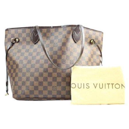 b976fcc75041 Louis Vuitton - Louis Vuitton Neverfull Mm 212040 Damier Ebene Tote Bag -  Walmart.com