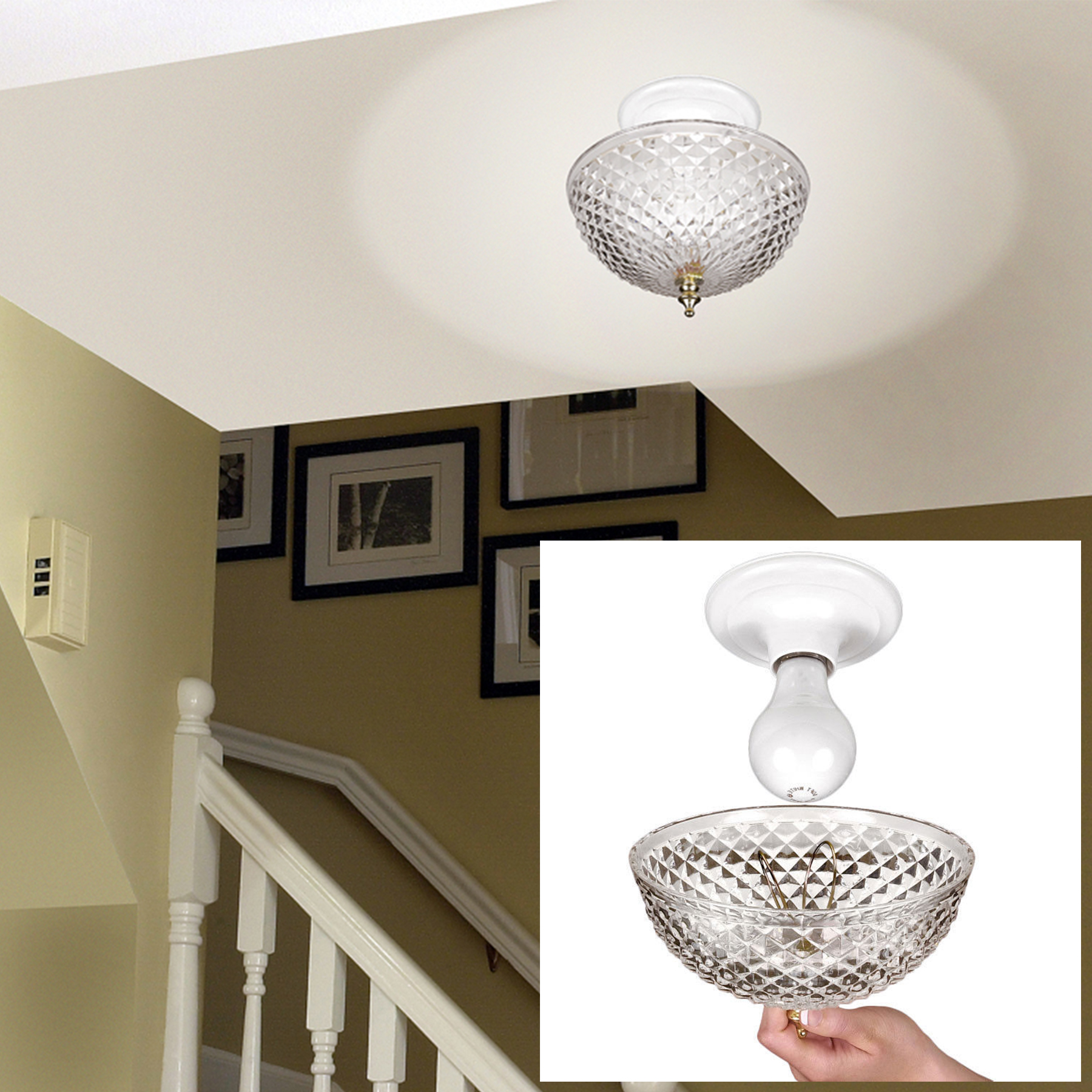 Hampton direct ceiling clip on diamond cut acrylic dome light hampton direct ceiling clip on diamond cut acrylic dome light shade bulb fixture walmart mozeypictures Image collections